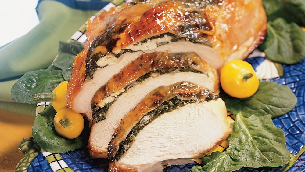 Spinach and Feta-Stuffed Turkey Breast