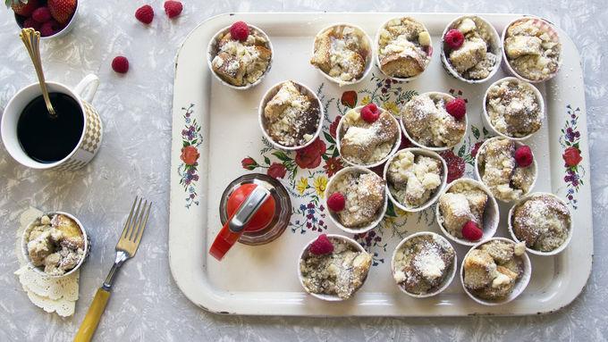 Overnight Cinnamon French Toast Cupcakes