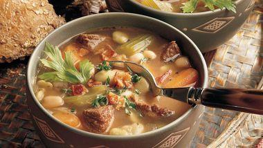 Gluten-Free Beefy Bean Soup