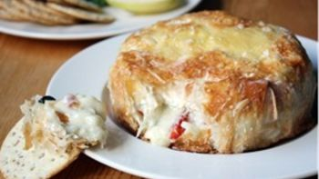Savory Baked Brie with Sundried Tomatoes and Capers