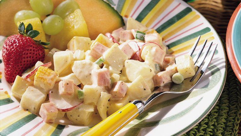 Ham, Cheese and Potato Salad