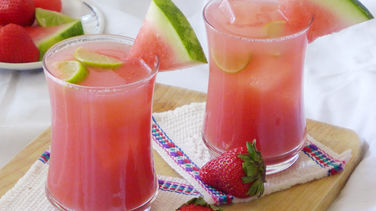 Strawberry Watermelon Ginger Cooler