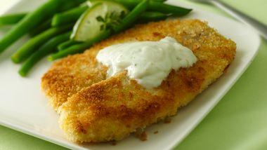 Crispy Fish Fillets with Zesty Lime Sauce