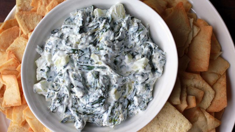 Spinach Cucumber Greek Yogurt Dip