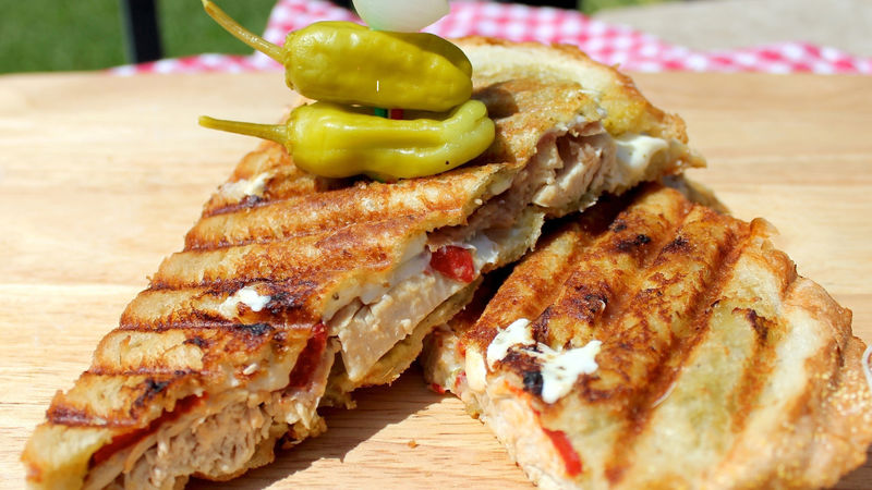 Italian Chicken Panini recipe from Betty Crocker