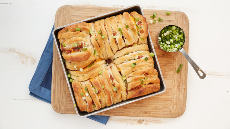 Bacon and Cheddar Chive Monster Pull-Apart Bread