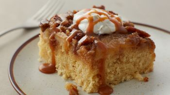 Warm Caramel Apple Cake
