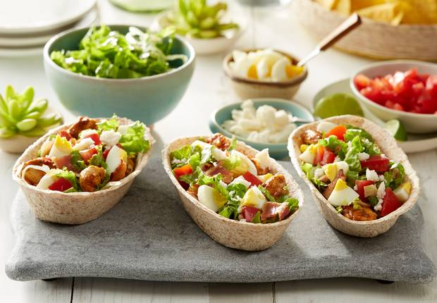 mexican chicken cobb whole wheat taco boats