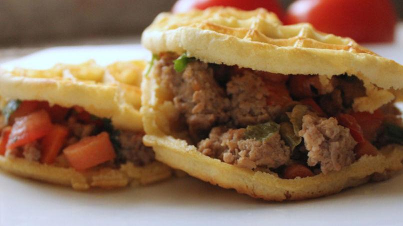 Stuffed Waffle Pitas