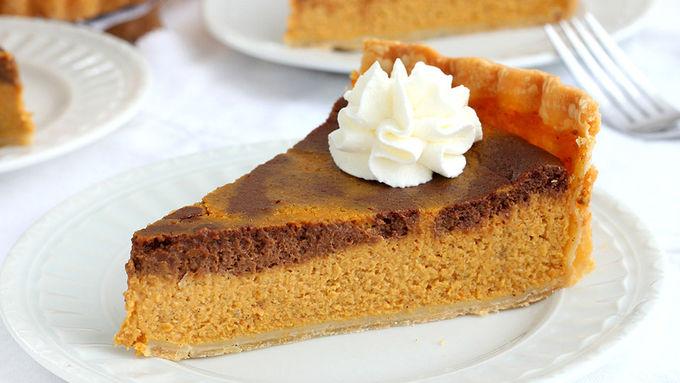 Chocolate-Pumpkin Pie