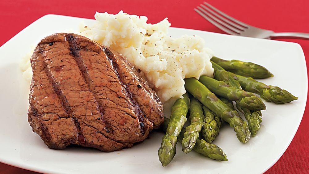 Coffee-Marinated Beef Tenderloin Steaks