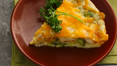 Skinny Impossibly Easy Chicken and Broccoli Pie