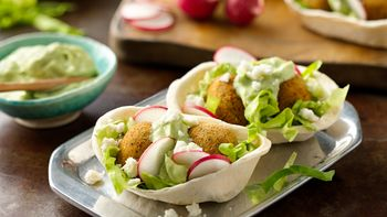 Mexican Falafel Mini Boats