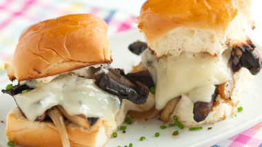 Cheesy Portabella Sliders