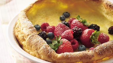 Dutch Baby Pancake with Berry Topping