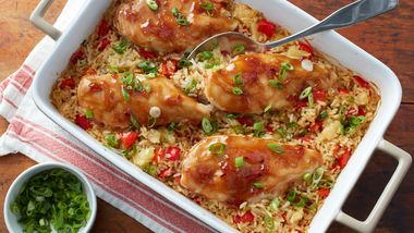 Teriyaki Chicken and Pineapple Rice Casserole