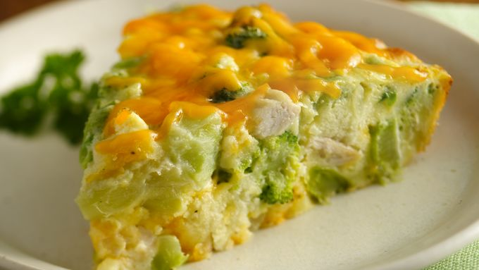 Gluten-Free Impossibly Easy Chicken and Broccoli Pie