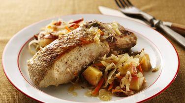 German Pork & Cabbage Casserole