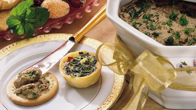 Chicken Liver, Mushroom and Almond Paté