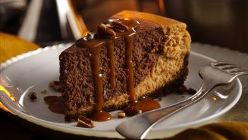Chocolate Bourbon Pumpkin Cheesecake