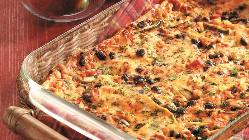 Cheesy Tortilla Lasagna