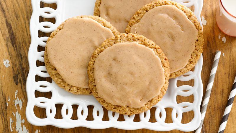 Easy Iced Oatmeal-Cardamom Cookies