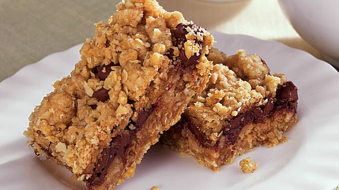 Chocolate Pear Oatmeal Bars