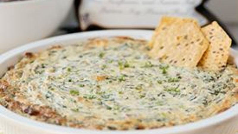 Blue Cheese-Bacon Spinach Dip