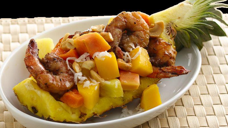 Grilled Shrimp with Tropical Fruit Salad