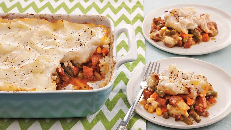Beef and Sausage Shepherd's Pie