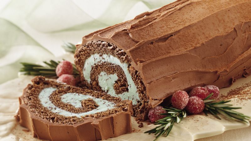 Frozen Swiss Roll Ice Cream Cake