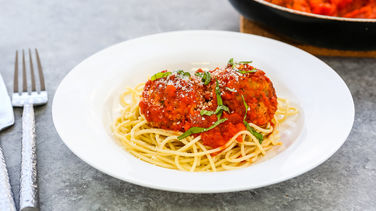 Spaghetti and Eggplant Meatballs