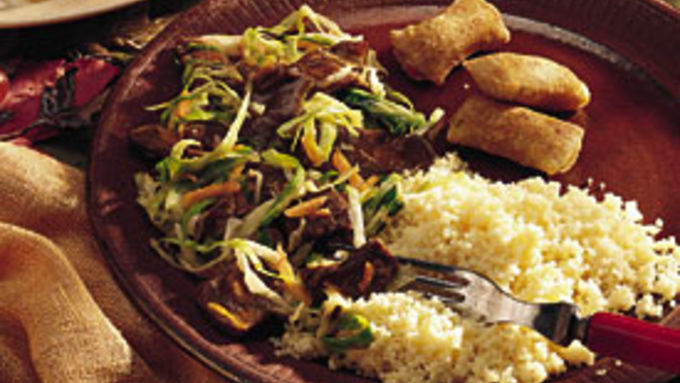 Sweet and Sour Beef with Cabbage