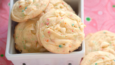 Banana-Rainbow Chip Cookies