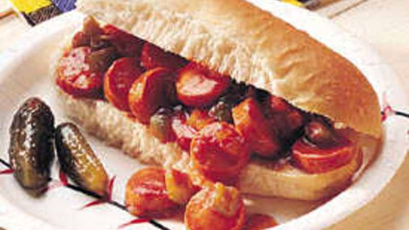 Sloppy Hot Dogs