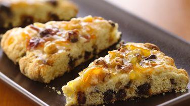 Bacon-Date Scones with Orange Marmalade Glaze