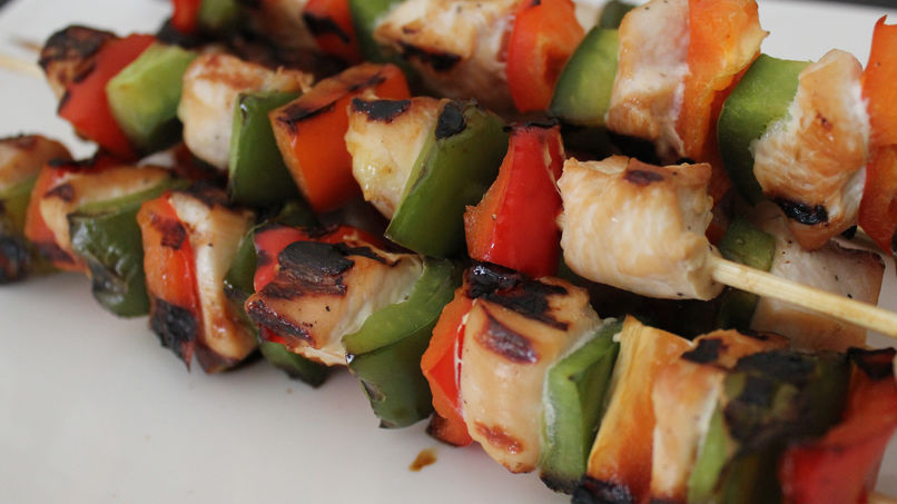 Chicken and Pepper Kebabs