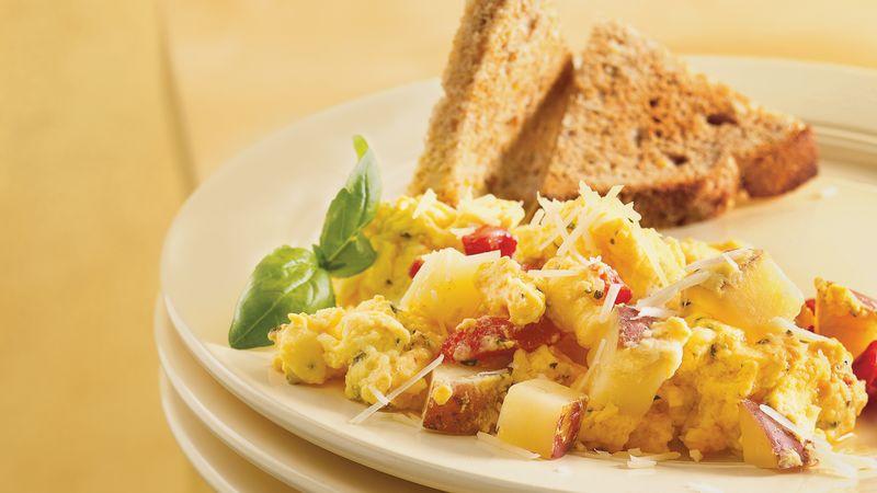 Gluten-Free Herbed Potato Egg Scramble