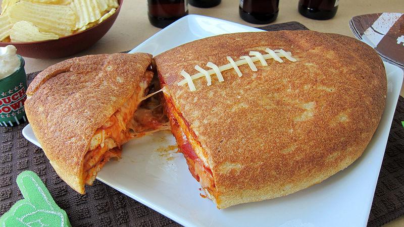 Football Pizza Cake