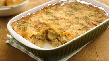 Chicken-Fennel-Potato au Gratin