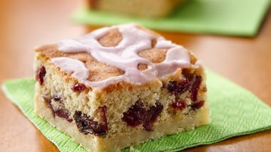Cranberry-Cherry Pound Cake Bars