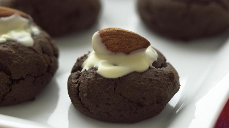 Skinny Fudgy Almond Cookies