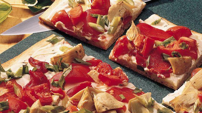 Artichoke and Red Pepper Pizza