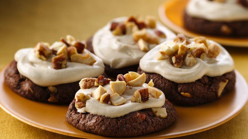 Nutty Chocolate-Irish Cream Cookies