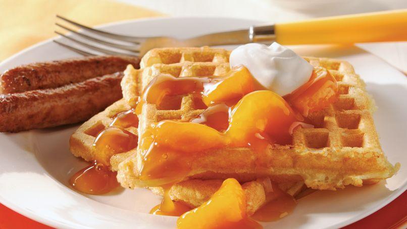 Dreamy Orange Waffles