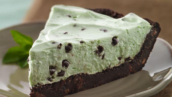 Gluten-Free Crème de Menthe Brownie Pie