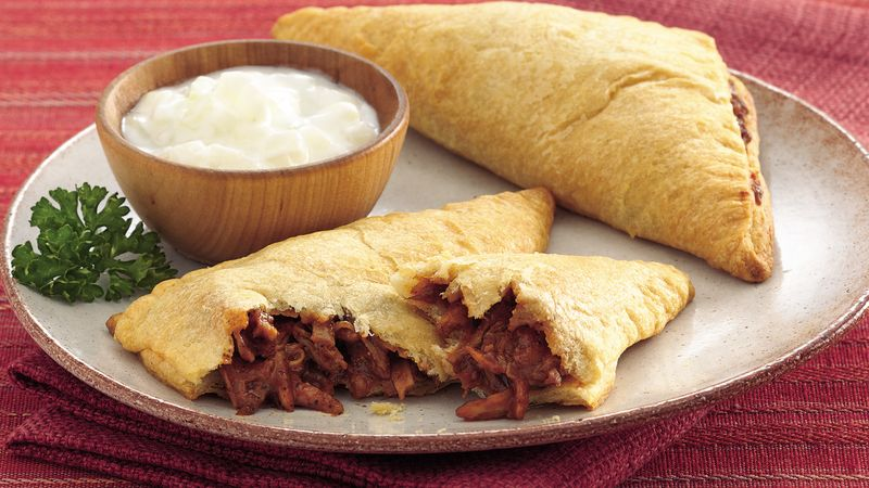Spicy Barbecue Triangles with Raita