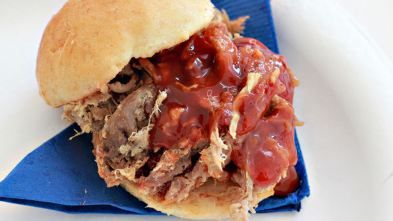 Slow-Cooker Pork Sandwiches with Homemade BBQ Sauce