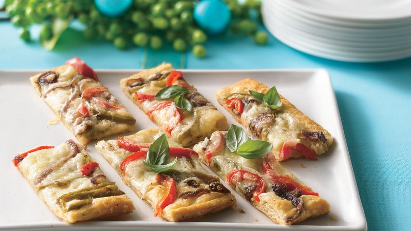 Pastry Tart with Havarti and Peppers