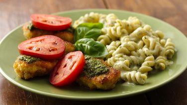 Pesto Parmesan Chicken and Pasta